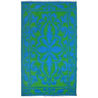Garden carpet persian green/blue - 60x95.25x0.5 inches