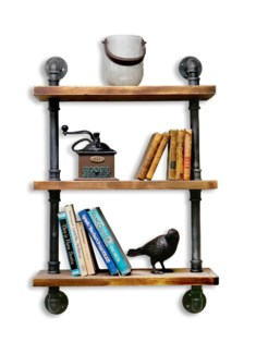 Industrial Shelf w Tubing 3 Shelves 24Wx9.8D