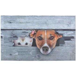 Doormat Peek-a-boo! Dog & cat - 29.75x18x0.25 inches