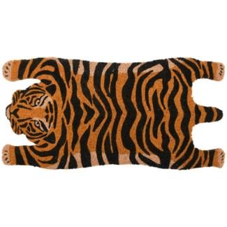 Doormat coir tiger, Coconut fibre, PVC - 29.33x14.76x1.7