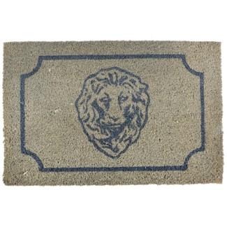 Doormat coir lion head - 24.5x16x1 inches
