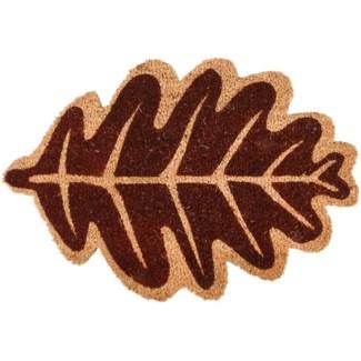 Doormat coir leaf autumn, Coconut fibre, PVC - 23.62x15.55x1.6