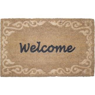 Doormat coir relief welcome -  23.62x15.75x1.7
