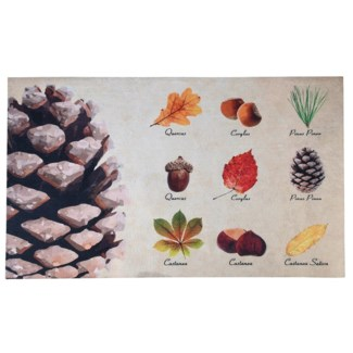Doormat collectibles trees, Polyester, PVC - 29.53x17.87x0.2