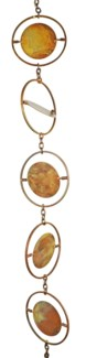 Flamed Circle Rain Chain 4x96 inch. Pg.45