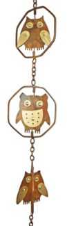 Flamed Owl Rain Chain - 4x96 inches