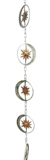 Flamed/Zinc Sun and Moon Rain Chain 4x95 inch. Pg.42