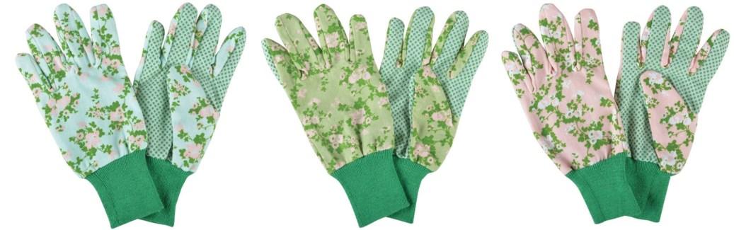 Rose print garden glove ass. 0. 12,0x10,0x26,3cm. oq/12,mc/240 Pg.137