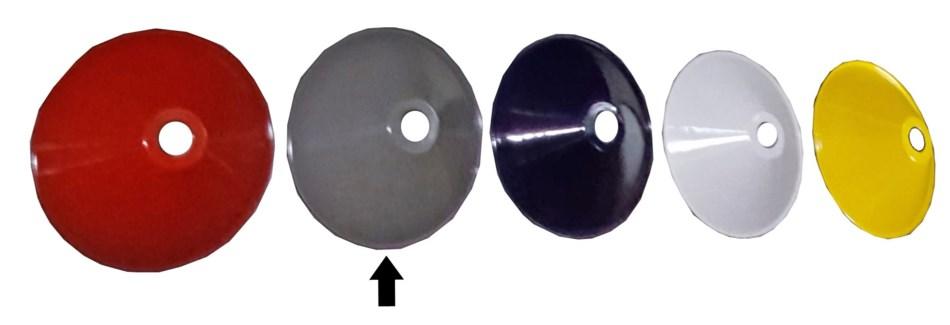 French Enamel Lamp Shade, Grey