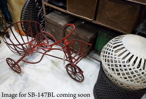 Antique Iron Tricycle w/planter, Blue
