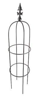 Iron Plant Plant Support - Obelisk Large, Black 14 x14 x 60