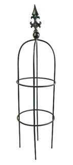 Iron Plant Plant Support Obelisk, Small,Black Finish 11.8x11.8x45.2