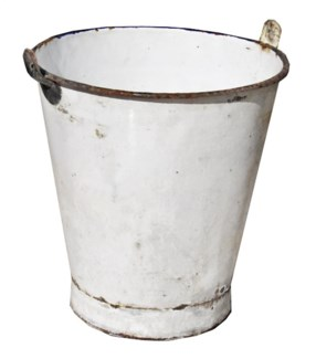 Antique Enamel Bucket w/Handle