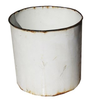 Antique Enamel Bucket No Handle