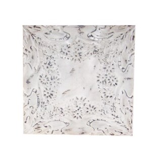 Antique Iron Ceiling Panel, White, 24x24 inches