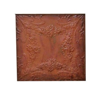 Antique Iron Ceiling Panel, Rust 24x24 inches