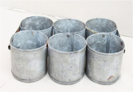 Antique 6 Zinc Pot 12x8x3.5 inches