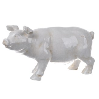 Hector Pig Statuette, White16x5.5x8.5inches