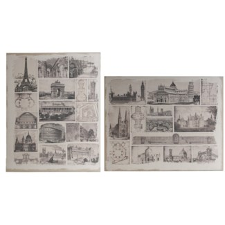 Architectural Travels Panel Prints60x48  set of 2,  On sale 50% off