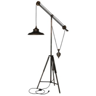 Giles Iron Weighted Floor Lamp, 34.3x18.5x68.8inch (SE FALL 2016)