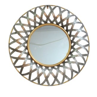 Ives Round Wall Mirror29.5x2.5x29.5inches