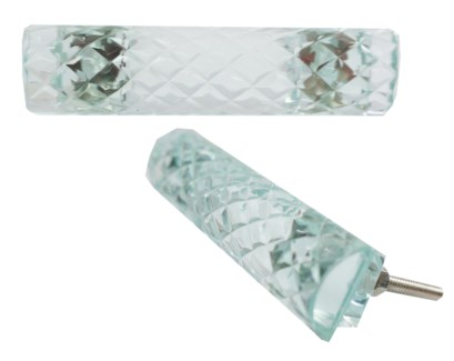 Quilted Glass Pull Handle, Glass,