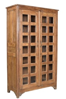 RS-36735 - Vintage 2 Door Tall Cabinet Natural, 43x19x72 Inches