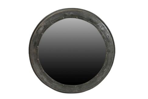 Antique Round Industrial Iron Mirror -21.26x21.26x1.57inches
