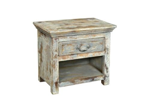 RS-35837 Vintage Replica Cabinet,Mango Wood, Cream 23x14x20 inches