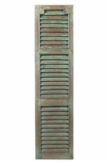 RS-41131 Vintage Shutter Panel,Teak wood, Green 18x1x70 inches