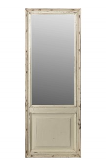 RM-34586 Vintage Mirror, Teak wood, Cream 24x2x76 inches