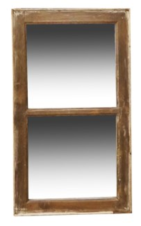 RM-24495 Vintage 2 panel Mirror, Teak wood frame, Various, dims TBC