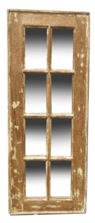 RM-24495 Vintage 5-8 panel Mirror, Teak wood frame, Various, 16.5x50 inches