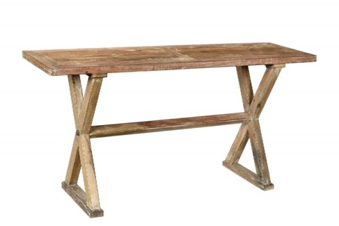 RS-41358 Vintage Replica Console Table,Mango Wood, 64x19x30 inches