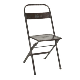 RS-42076 Vintage Folding Chair, Iron, 16x14x32 inches