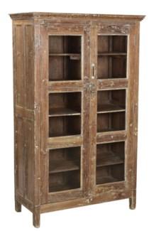 Vintage 2 Door Cabinet 3 shelves, 38x16x60 Inches