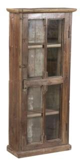 Vintage Cabinet 4 Pane Door, Natural, 19x7x42 Inches