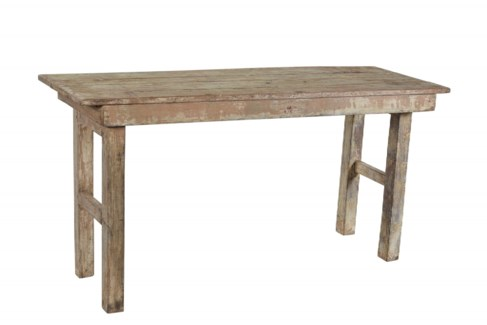 RM-35535 - Vintage Console Table Wood, Natural, 60x21x30 Inches