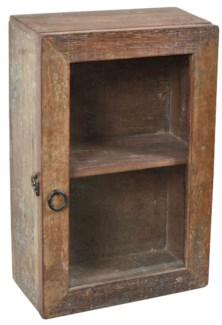 RS-40955 - Vintage Small Cabinet Natural, 12x6x15.5 Inches