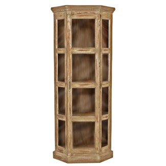 RS-30428 - Vintage Corner Cabinet Natural, 29x20x71 inches