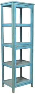 RS-43782 - Vintage Display Cabinet Blue, 23x19x74 inches