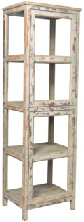 RS-43783 - Vintage Display Cabinet Cream, 23X19X74 Inches