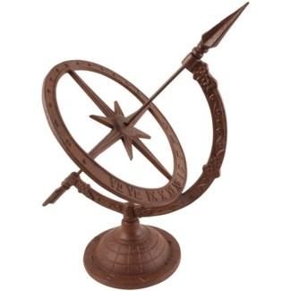 Cast iron sundial Sl. Cast iron. 24,5x32,0x38,5cm. oq/6,mc/6 Pg.95