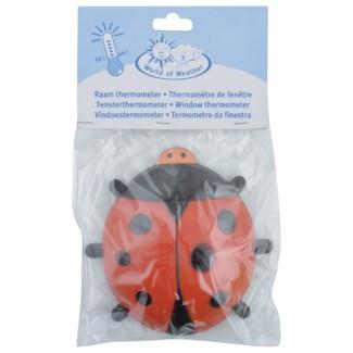Ladybird window thermometer. Plastic, kerosine. 17,0x4,6x17,1cm. oq/24,mc/72 Pg.97