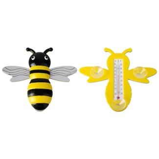 Bee window thermometer. Plastic, kerosine. 22,1x3,5x19,6cm. oq/24,mc/72 Pg.97