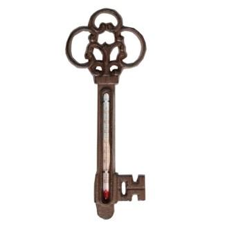 Thermometer key. Cast iron, glass, kerosine. 8,7x1,0x22,3cm. oq/8,mc/48 Pg.95