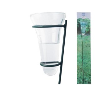Rain gauge glass. Metal,glass. 12,0x12,0x133,5cm. oq/12,mc/12 Pg.96