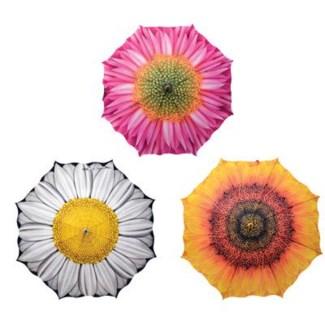Umbrella flowers ass. Silk, fiberglass, metal, PP. 102,5x102,5x84,0cm. oq/12,mc/60 Pg.115