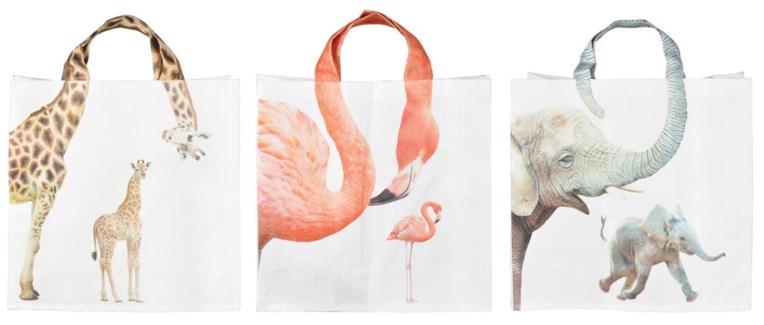 Shopping bag zoo animalnecks ass. PP Woven fabric. 39,0x14,0x39,0cm. oq/24,mc/96 Pg.118