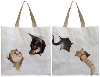 Shopping bag cat/dog break through. 0. 39,5x14,5x40,0cm. oq/24,mc/96 Pg.118